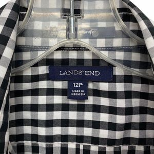 Lands' End Tops - Lands' End sleeveless check button front 12P